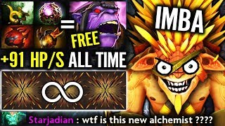 WTF NEW CANCER RAIDBOSS +91 HP/s Alchemist Mode Ebola Bristleback Craziest Build 7.20 Ever Dota 2