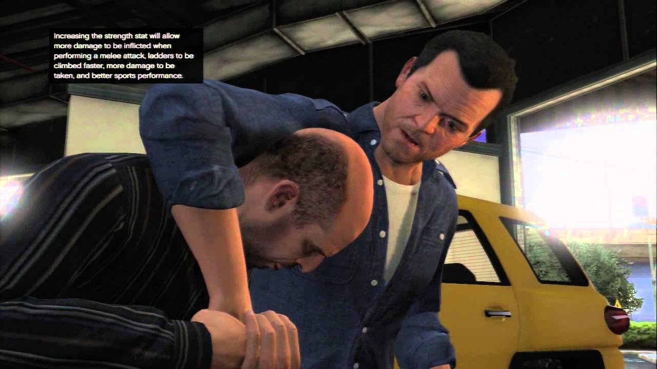 Grand Theft Auto V Michael De Santa Fights Simeon