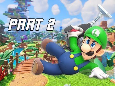 Mario + Rabbids Kingdom Battle Walkthrough Part 2 - MIDBOSS - Rescue Luigi (Switch Let's Play)