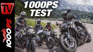 1000PS Test - Kawasaki Z650, Z900, Z1000R - Mit Blackforest Rider & Miisses_Black