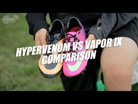 Nike Hypervenom Phantom vs Mercurial Vapor IX comparison