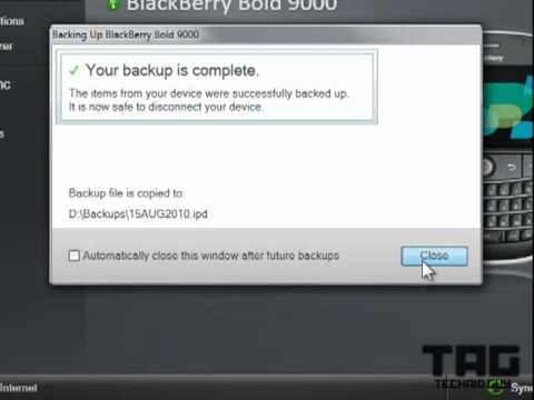 Blackberry Backup & Restore Using Desktop Manager 6