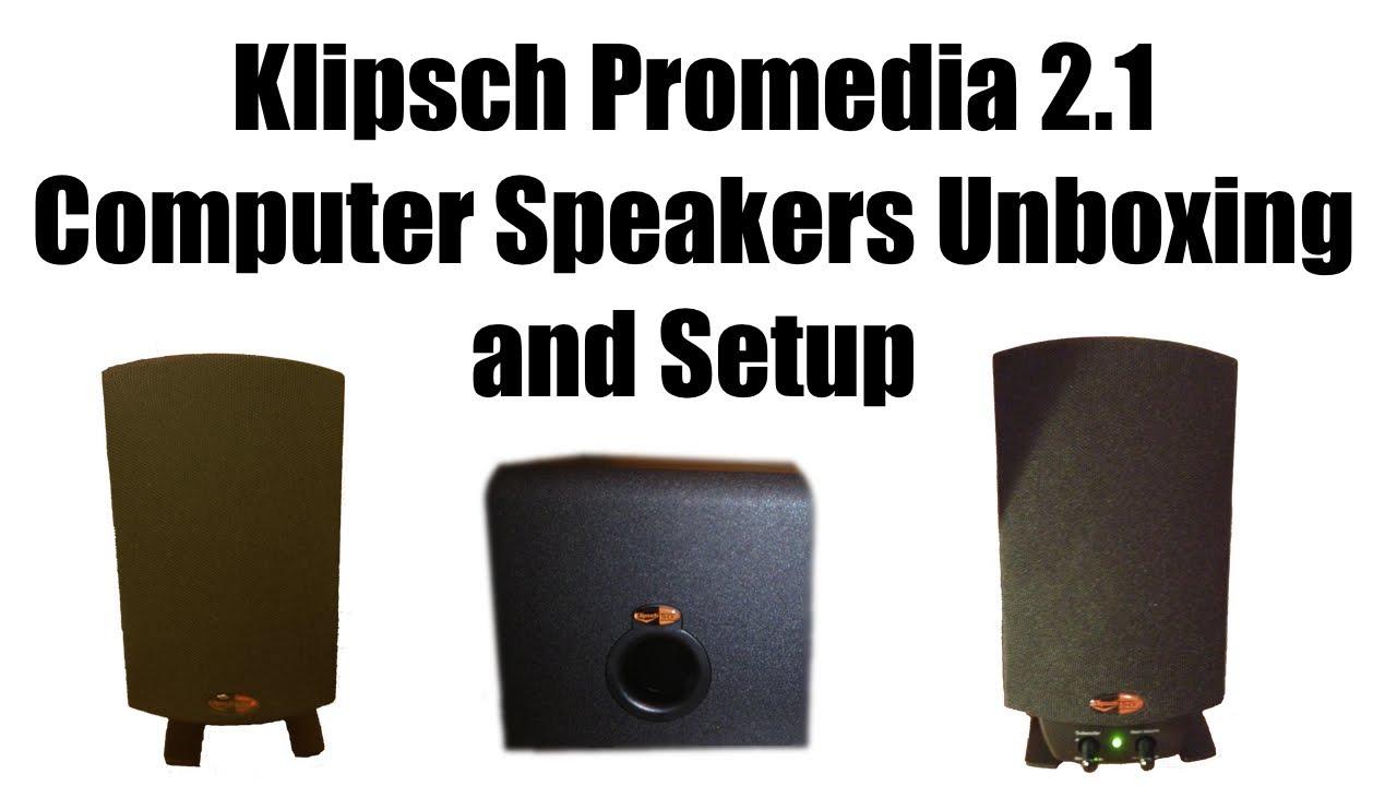 klipsch promedia 2 1 official unboxing and setup youtube. Black Bedroom Furniture Sets. Home Design Ideas