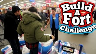 (LMAO) BUILD A FORT CHALLENGE! // CRAZIEST TOILET PAPER FORT CHALLENGE EVER!!