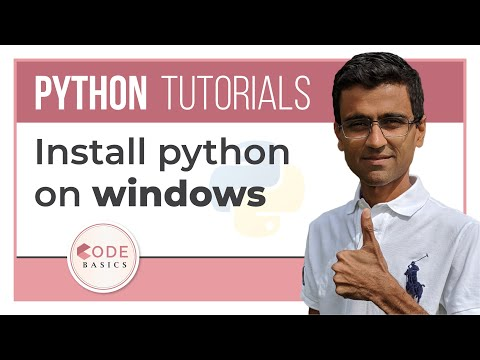 Python Tutorial - 1. Install python on windows