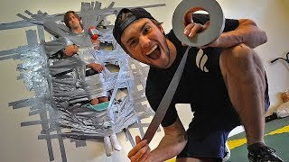 DUCT TAPED my BIG BROTHER to the WALL PRANK!