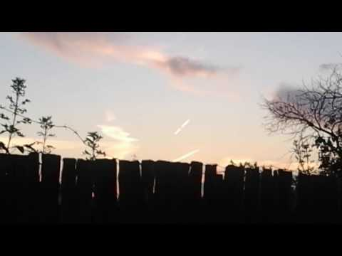 падение метеорита? НЛО? что это было?