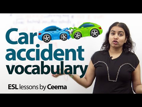 Car Accident Vocabulary - Free Spoken English Lesson video