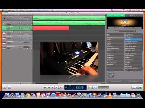 Recording music with a USB MIDI keyboard and Garageband