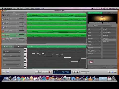Recording music with a USB MIDI keyboard and Garageband