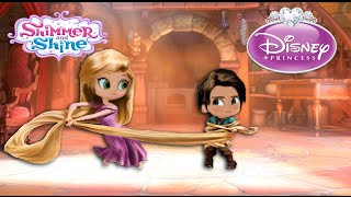 Shimmer and Shine Color Disney Tangled Rapunzel Episode with Leah and Zac