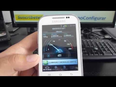 Aplicacion Android Test de Velocidad samsung Galaxy chat B5330 español Full HD