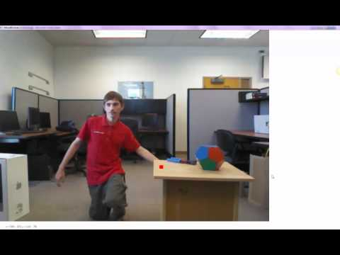Ohio Northern University - Natural User Interfaces - Kinect Virtual Object Demo
