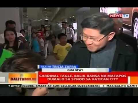 Cardinal Tagle, balik-bansa na matapos dumali sa Synod sa Vatican City