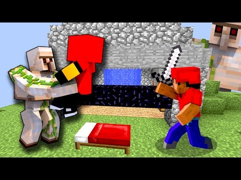 ЖЕЛЕЗНЫЕ ГОЛЕМЫ УНИЧТОЖИЛИ ЦЕЛУЮ КОМАНДУ НА БЕД ВАРСЕ! - (Minecraft Bed Wars)