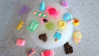SLIME with SMALL CANDY TOYS | Making Slime with Miniature Toys | Slime Time
