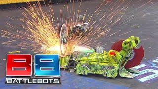 BattleBots Season 2 Exhibition Rumble: Skorpios, Death Roll and Bucktooth Burl