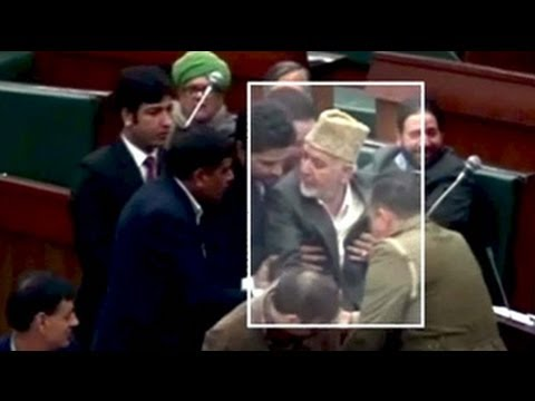PDP Legislator Syed Bashir Ahmad slaps Jammu and Kashmir assembly marshal