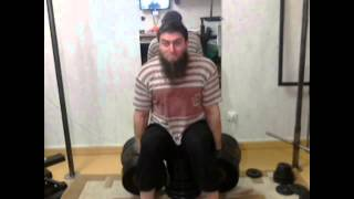 Seated dumbbell shrugs 90, 95, 100 kg 4 March 2014