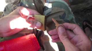 How to clean the gunk out of a padlock Part 1