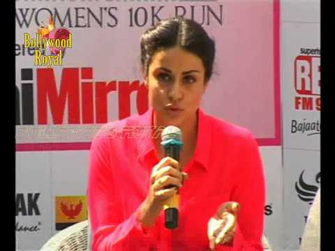 Gul Panag At Breast Cancer Awareness With Pinkathon Mumbai 2013  1 video
