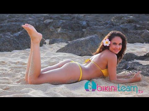 Bikini Model Jamie Robertson Video Shoot on North Shore of Hawaii by Vince Cavataio thumbnail