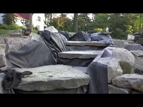 AMJ Lawn Landscaping 2010 Boulder Retaining Wall and