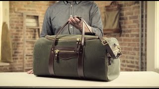 The Large Duffle   Waxed Canvas & Leather Duffle Bag