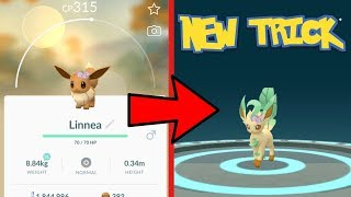 NEW NICKNAME TRICK FOUND FOR GLACEON & LEAFEON IN POKEMON GO!