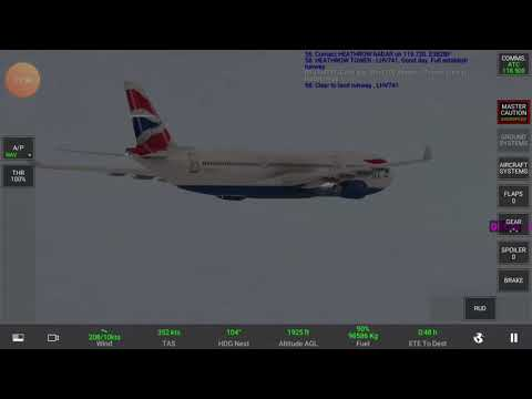 Real Flight simulator London (EGLL) to Amsterdam (EHAM). You can see next video for landing.