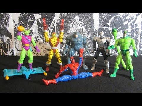 Человек-Паук 1994. Волна 3. Распаковка и обзор фигурок (игрушек) фирмы Toy Biz. Марвел