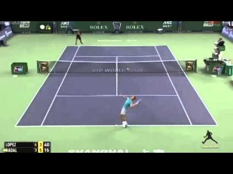 Rafael Nadal vs Feliciano Lopez     Shanghai master 1000 2014