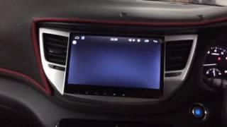 "Hyundai Tucson 2017 Installed Android In Car Player Headunit 10"" Plug N Play"