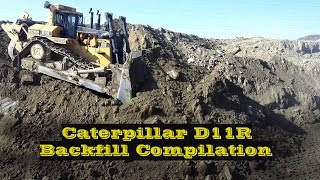 Cat D11R Backfill Compilation