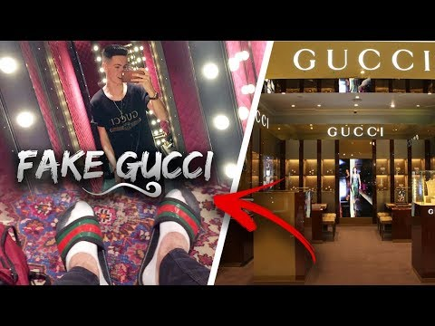 WEARING FAKE GUCCI TO THE GUCCI STORE
