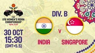 Индия до 18 (Ж) : Сингапур до 18 (Ж)