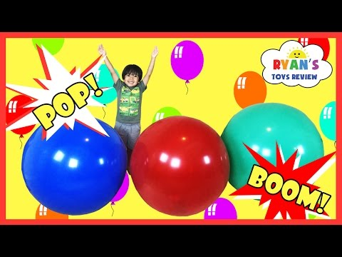 GIANT BALLOON POP SURPRISE TOYS CHALLENGE