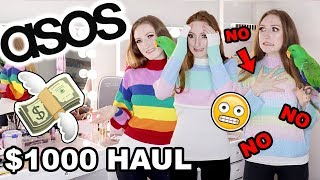 I SPENT $1000 AT ASOS!! HAUL AND TRY ON: LAZY OAF, HELLO KITTY, MONKI, MISSGUIDED