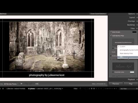 Lightroom 4: Publish a Slideshow