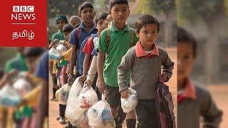 பிளாஸ்டிக் பொருட்களை கட்டணமாக வசூலிக்கும் மாதிரி பள்ளி