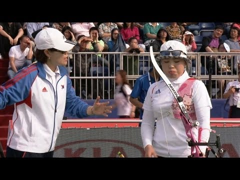Recurve Women Gold - Shanghai - Archery World Cup 2013