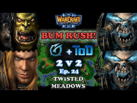 Grubby | Warcraft 3 The Frozen Throne | 2v2 w/ ToD Orc+HU v UD+UD - Twisted Meadows
