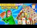 GINGERBREAD HOUSE DESTRUCTION!  Tree Smash!  (FUNnel Vision Vlog)