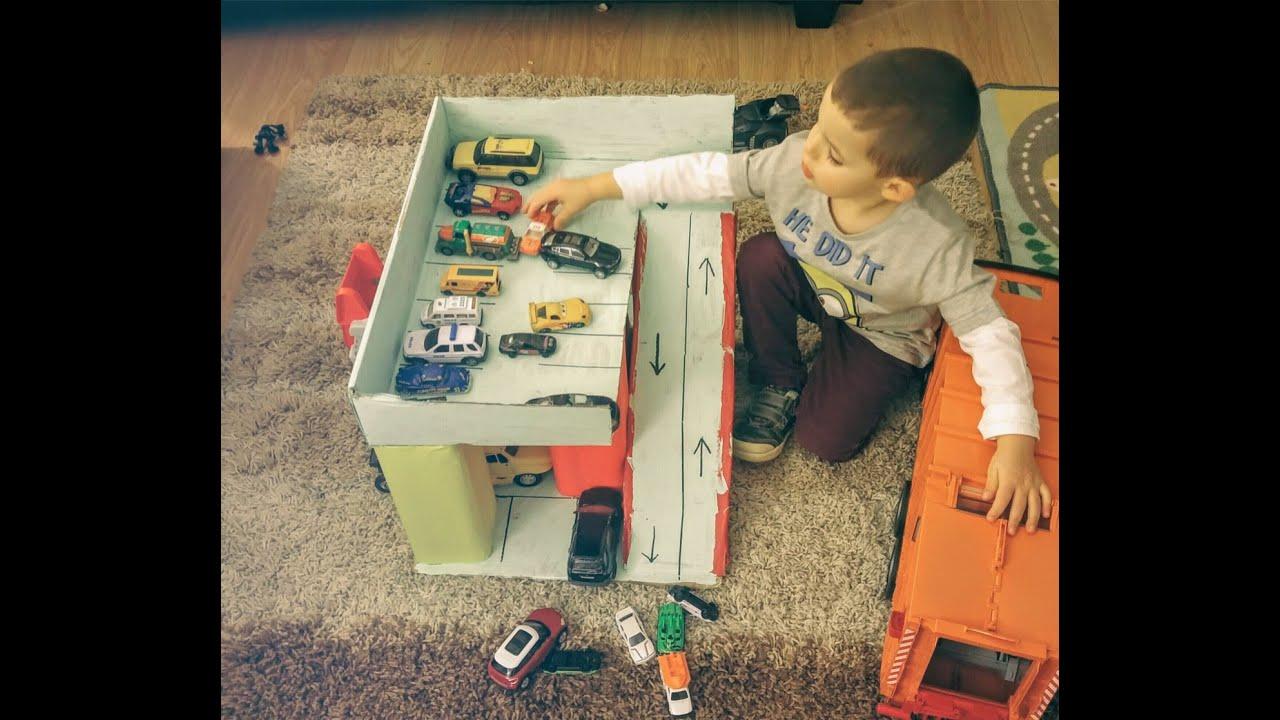 Как из коробки сделать детский гараж 502