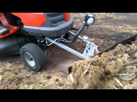 Lawn mower plowing - dry test 1