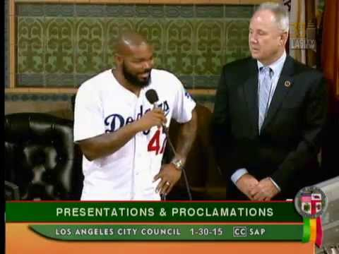 Los Angeles Dodgers at City Hall