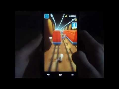 Lg Optimus 4x HD Subway Surfers Gameplay. www.facebook.com Google Play