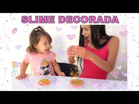 DECORANDO SLIMES SEM BAGUNÇA ?!?!😌   ft. JAQUELINE SOBRINHO   Primeira vez