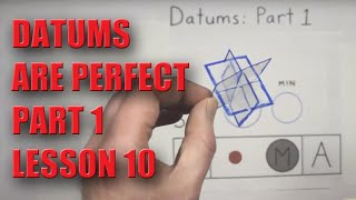 GD&T Datums Part 1 - Lesson 10 - NO MATH