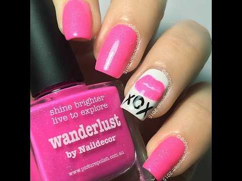 PAAANK!! Pink 'Wanderlust by @naildecor'